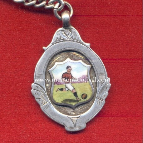 British football medal with silver chain, 1913