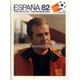 Boletín Copa Mundial de Fútbol 1982