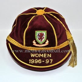 1996-97 Wales Women Internacional Football Cap