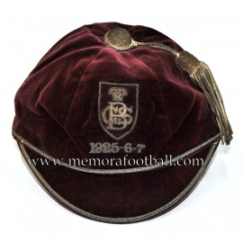 1925-6-7 Bradford Grammar School football cap