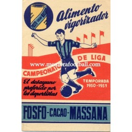 Spanish League 1ª Division 1950-1951 publicity football calendar