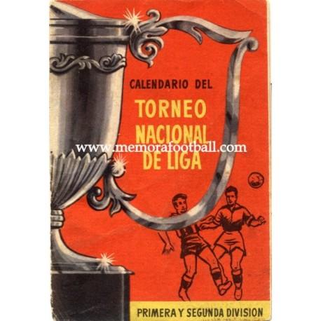 Spanish League 1ª & 2º Division 1957-1958 publicity football calendar