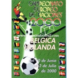 Spanish publicity football calendar Euro 2000
