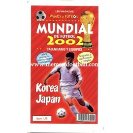 Spanish football calendar FIFA World Cup 2002