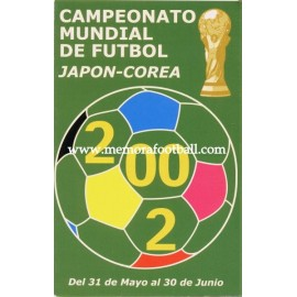 Spanish publicity football calendar FIFA World Cup 2002 Korea & Japan