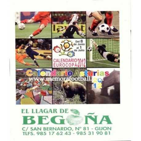 Spanish publicity football calendar UEFA Euro 2012