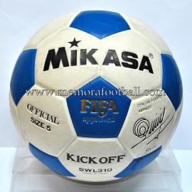 """Balón """"MIKASA"""" 1980s Firmado por Quini"""