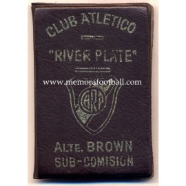 1976 Club Atlético River Plate (Argentina) membership card