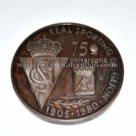Real Sporting de Gijón 1905-1980 75th Anniversary medal