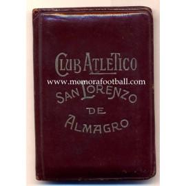 1950s Club Atlético San Lorenzo de Almagro (Argentina) membership card