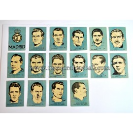 16 Cromos Real Madrid CF 1952-53 equipo completo