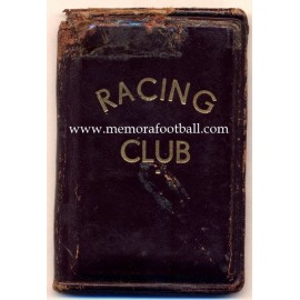 1957 Racing Club (Argentina) membership card