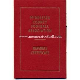 Football Referee´s Certificate dated 1973