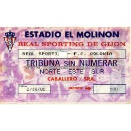 Sporting de Gijón v FC Köln UEFA 1985
