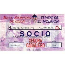 Sporting de Gijón vs Milan A.C. 16-09-1987