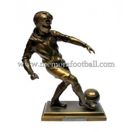 A spelter figure of a footballer c.1950 Germany