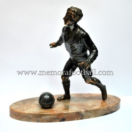 A spelter figure of a footballer c.1900 France