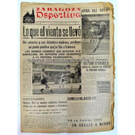 """""""ZARAGOZA DEPORTIVA"""" Semanario Gráfico 3 diciembre 1956"""