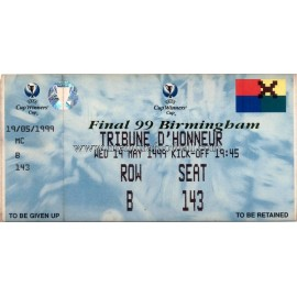 1999 UEFA Cup Winners' Cup Final ticket