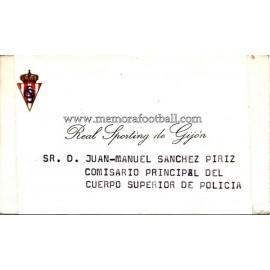 Tarjeta de visita del Sporting de Gijón 1970s