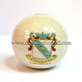 Crested china model of Football (CLEETHORPES)