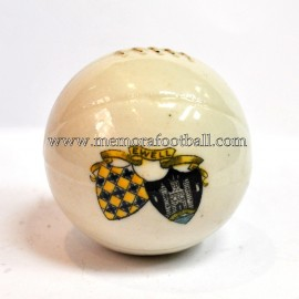 Crested china model of Football (EWELL)
