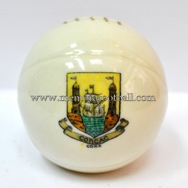Crested china model of Football (CORK)