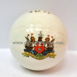 Crested china model of Football (SOUTHAMPTON)