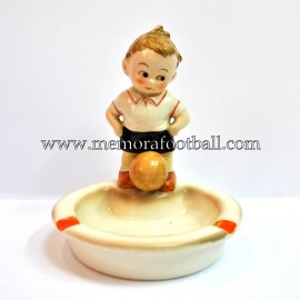 Ashtray with figure boy with football, circa 1940 Germany