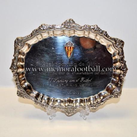 Placa Real Sporting de Gijón 12-12-1990