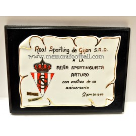 Placa del Real Sporting de Gijón 30-12-1994