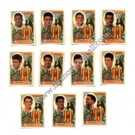 11 Cromos Valencia CF 1953-54 equipo completo