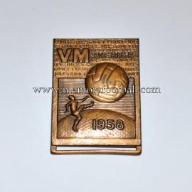 Insignia del Campeonato Mundial de Fútbol 1958 Suecia