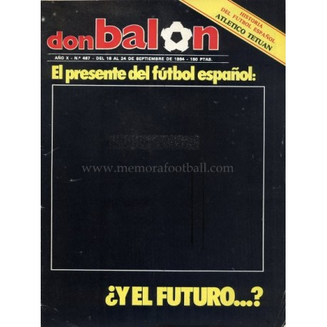 DON BALON (Spanish football magazine) 18-24 Sep 1984