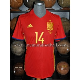 """THIAGO"" Spain vs Georgia 07-06-2016 match worn"