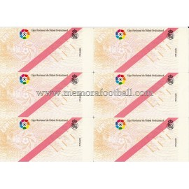 1900s Real Madrid CF Spanish Football League tickets