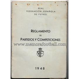 Reglamento de partidos y competiciones 1948