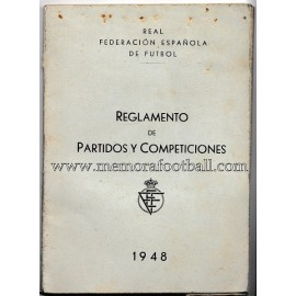 Rules of Football 1948 (Spain)