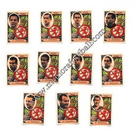 11 Cromos Cultural Leonesa 1954-55 equipo completo