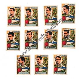 11 Cromos Deportivo Alavés 1954-55 equipo completo
