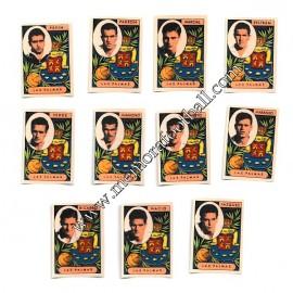 11 Cromos UD Las Palmas 1954-55 equipo completo