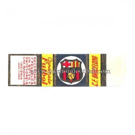 """Cromo de caramelo """"Futbol"""" recortable del CF Barcelona 1950s"""