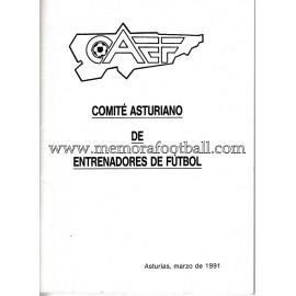 Reglamento del Comité Asturiano de Entrenadores de Fútbol, 1991