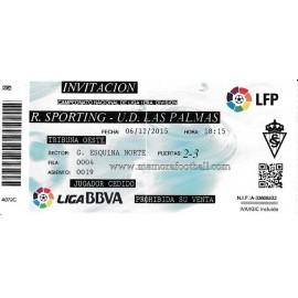 Entrada Sporting de Gijón v Las Palmas LFP 06/12/2015