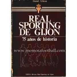 """""""REAL SPORTING DE GIJÓN"""" 75 años de historia (1982)"""