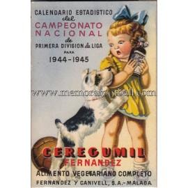Calendario Liga Española Primera División 1944-1945