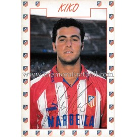 """KIKO"" Atlético de Madrid 1996 signed card"