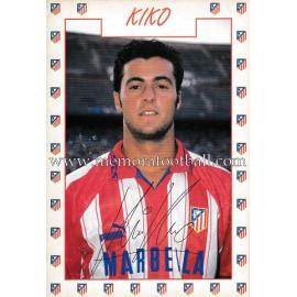 """Tarjeta postal de """"KIKO"""" Atlético de Madrid 1996"""