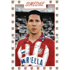 """SIMEONE"" Atlético de Madrid 1996 signed card"