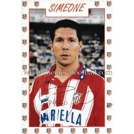 """Tarjeta postal de """"SIMEONE"""" Atlético de Madrid 1996"""